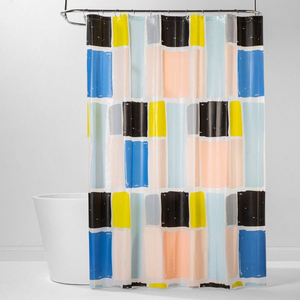 Peva Shower Curtain Colorblock Room Essentials In 2020 Shower