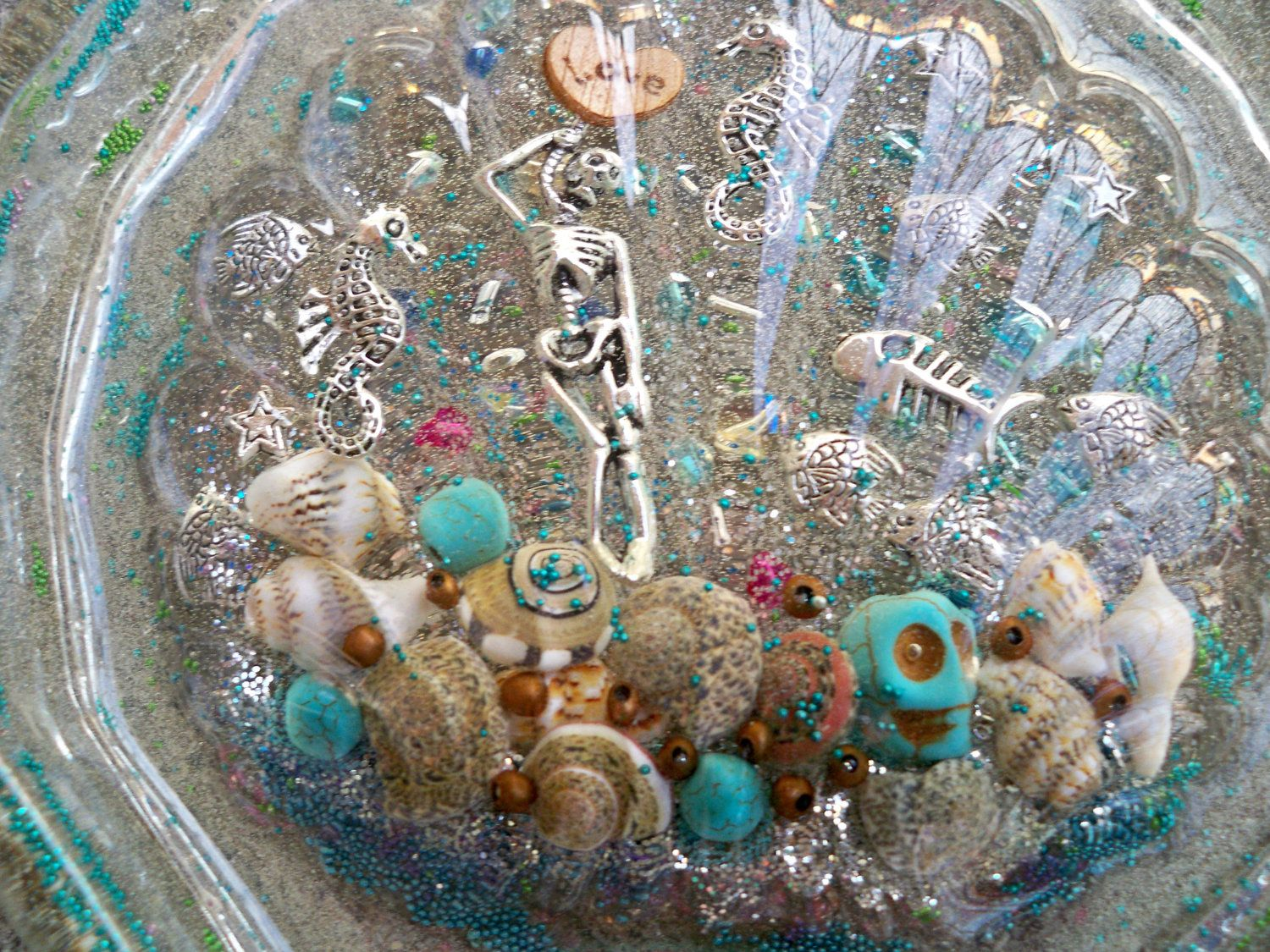 Underwater Themed Resin Soap Dish, Resin Candy Dish via