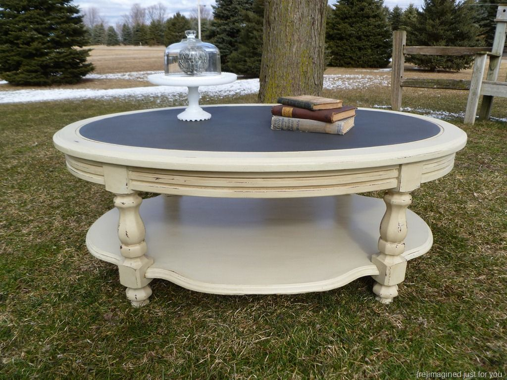 ascp graphite countrey grey coffee table coffee tables shabby chic round coffee table. Black Bedroom Furniture Sets. Home Design Ideas