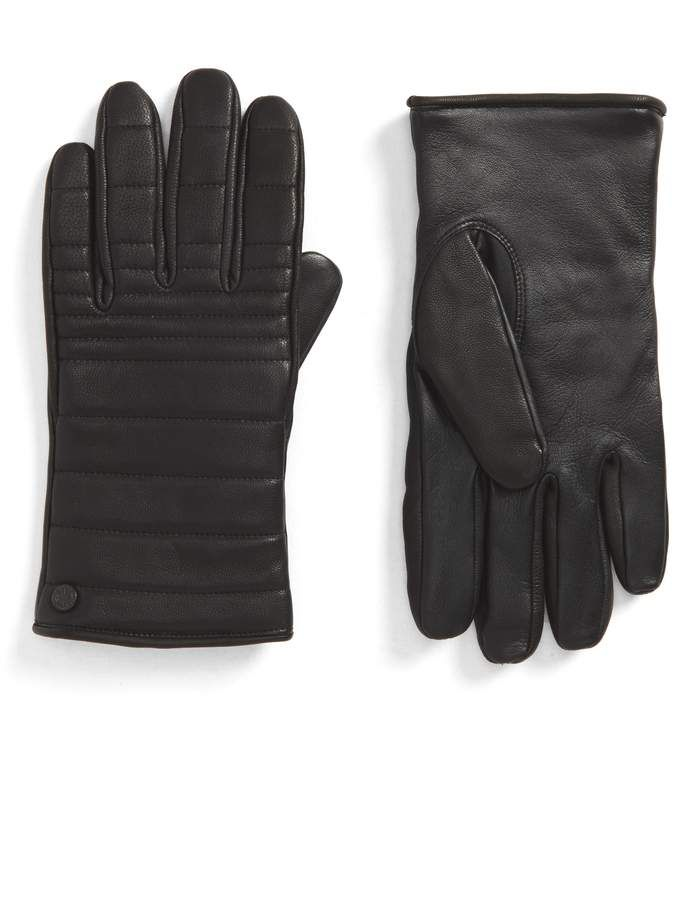 7c14421b2ed95 Canada Goose Quilted Leather Gloves with Faux Fur Lining in 2019 ...