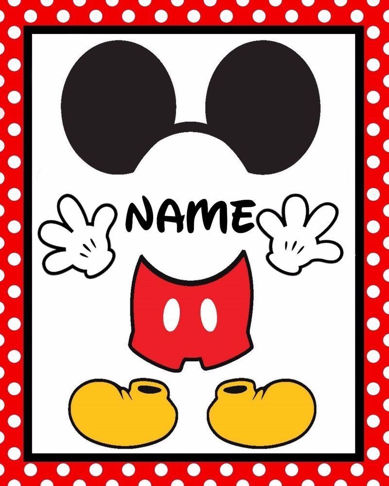 Disney Mickey Mouse Set of 2 NEED NAME Cardstock Birthday Table Sets in Red  sc 1 st  Pinterest & Disney Mickey Mouse Set of 2 NEED NAME Cardstock Birthday Table Sets ...