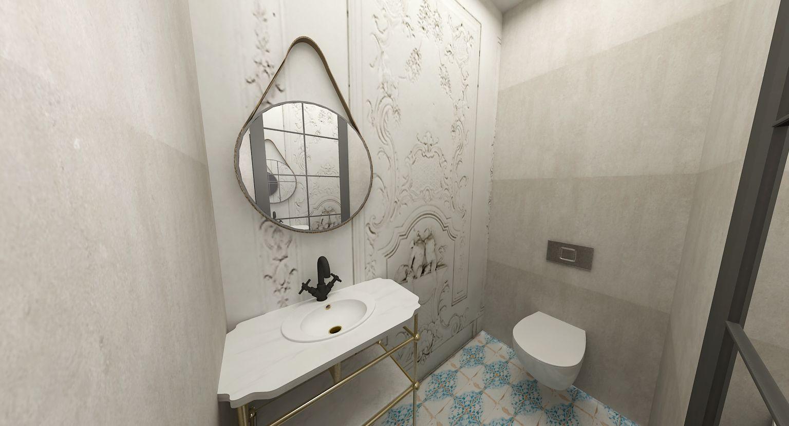 Original modern style bathroom wc design by rusudan tumanaishvili