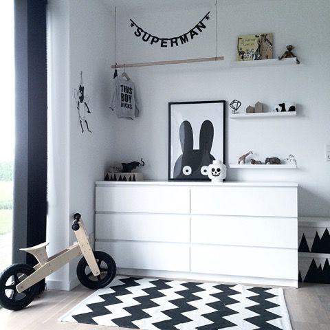 Elegant Monochrome Kids Bedroom Tour | CK