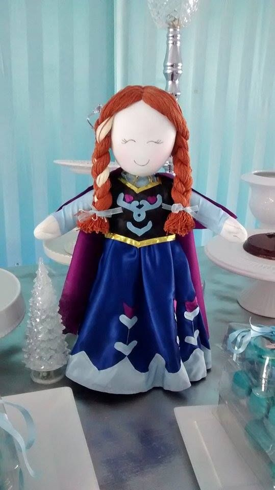 Boneca de pano Ana frozen