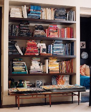 love that the books are arranged by color