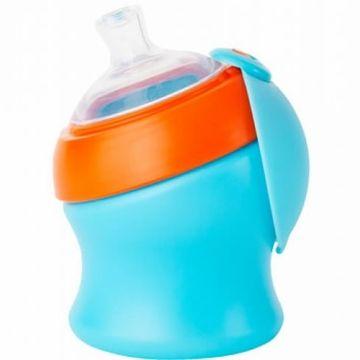 Boon SWIG Short Top Sippy Cup - Blue & Orange