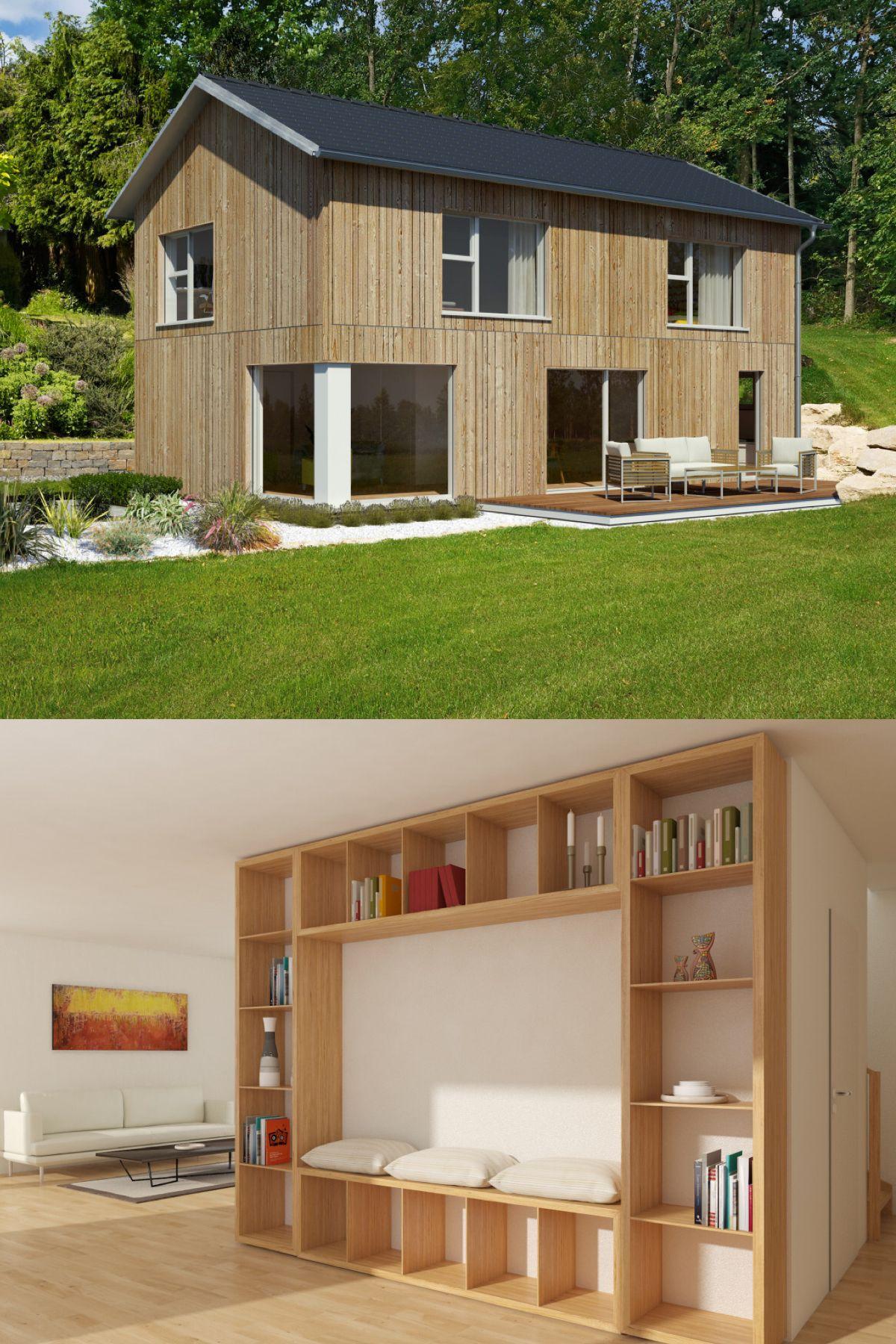 """Modernes Holzhaus """"mein Ideenhaus"""" Von Baufritz"""