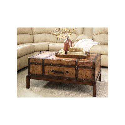 Marvelous Hammary Hidden Treasures Trunk Coffee Table With Lift Top | Wayfair