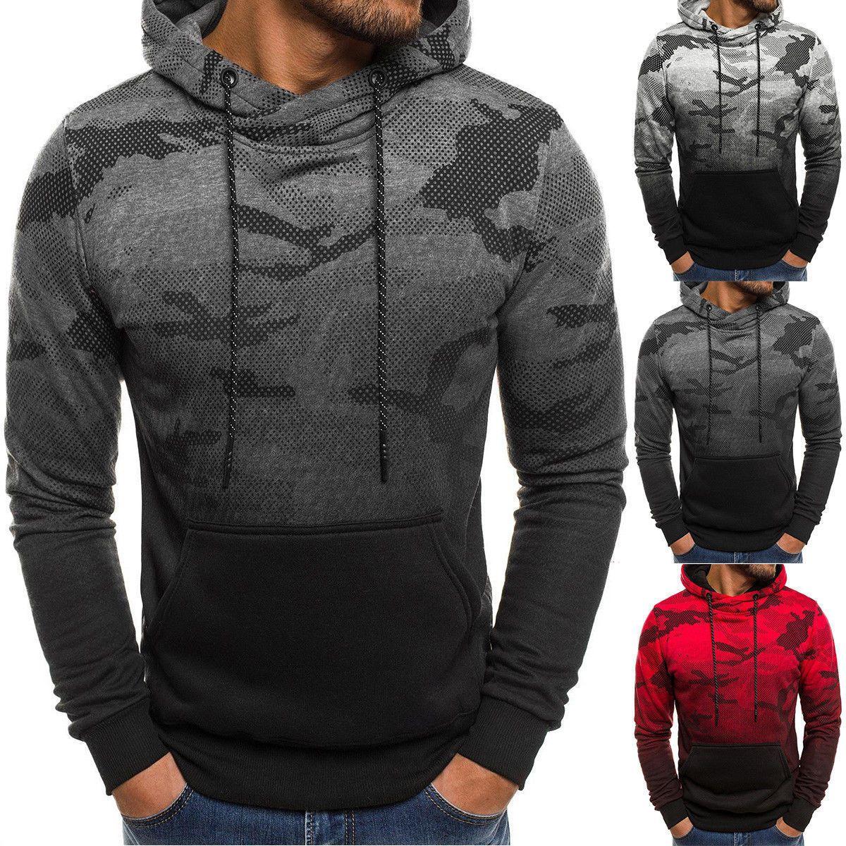 Men Letter Hooded Sweatshirt Coat Jacket Outwear Jumper Winter Sweater Blouse UK