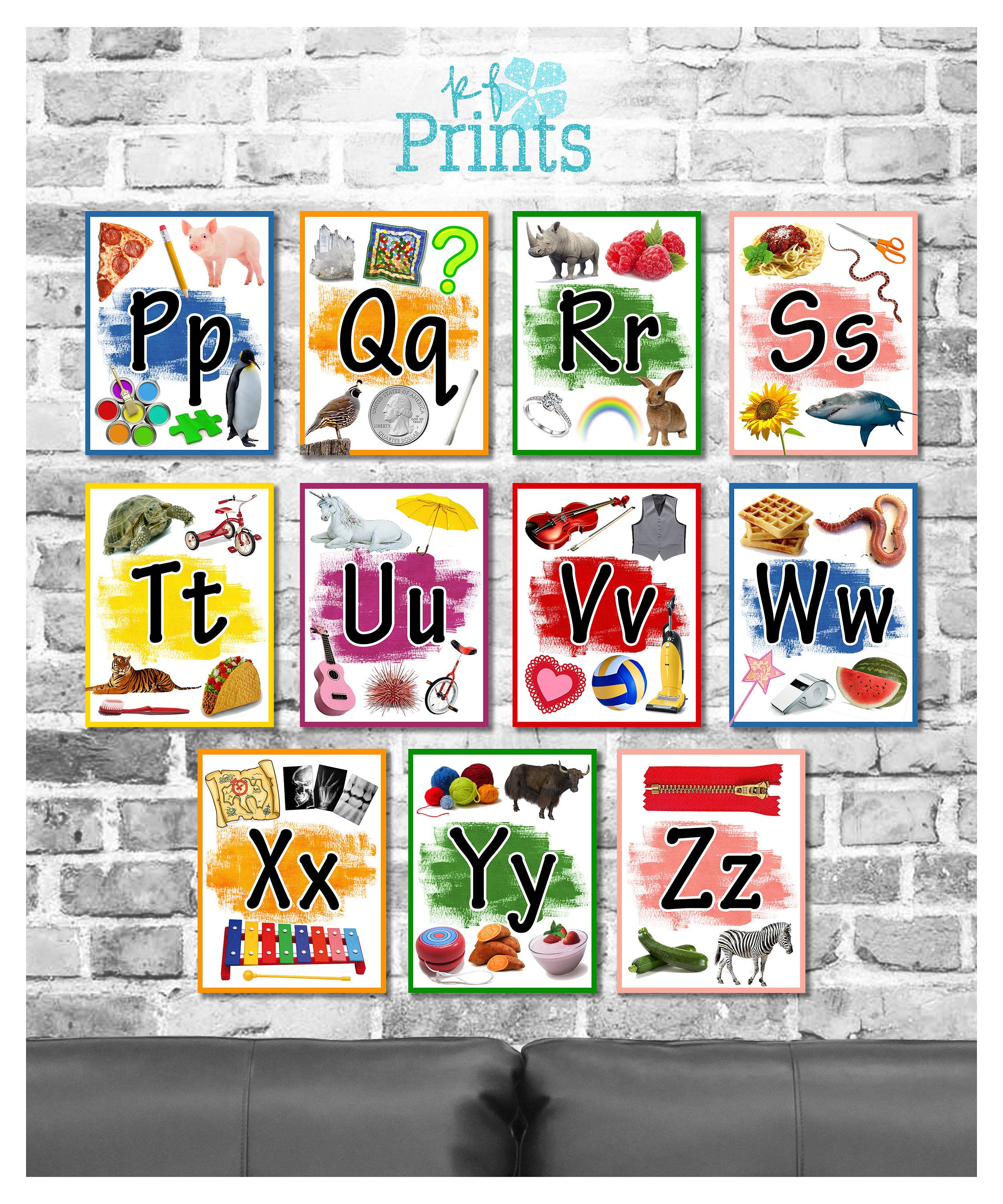 This Full Set Of 26 Colorful Alphabet Flashcards Is Perfect