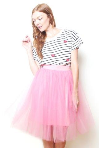 Jordan de Ruiter Anita Tulle Skirt - Dusty Rose // $156