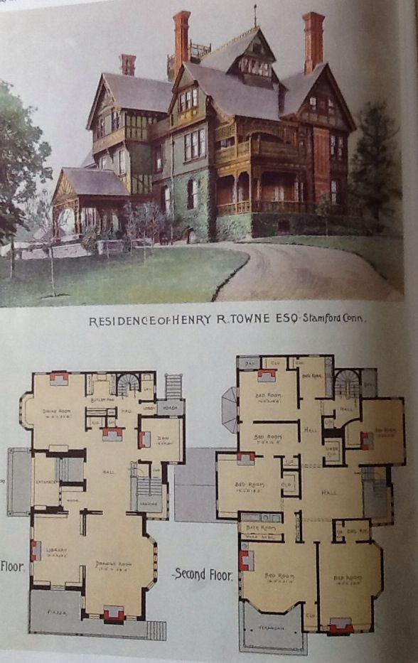 Victorian House Edit Blanche Cirker Scientific America July 1890 Residence Of Henry R Towne Esq St Victorian House Plans Victorian Homes Vintage House Plans