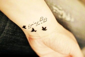 Cute Wrist Quote Tattoos For Girls