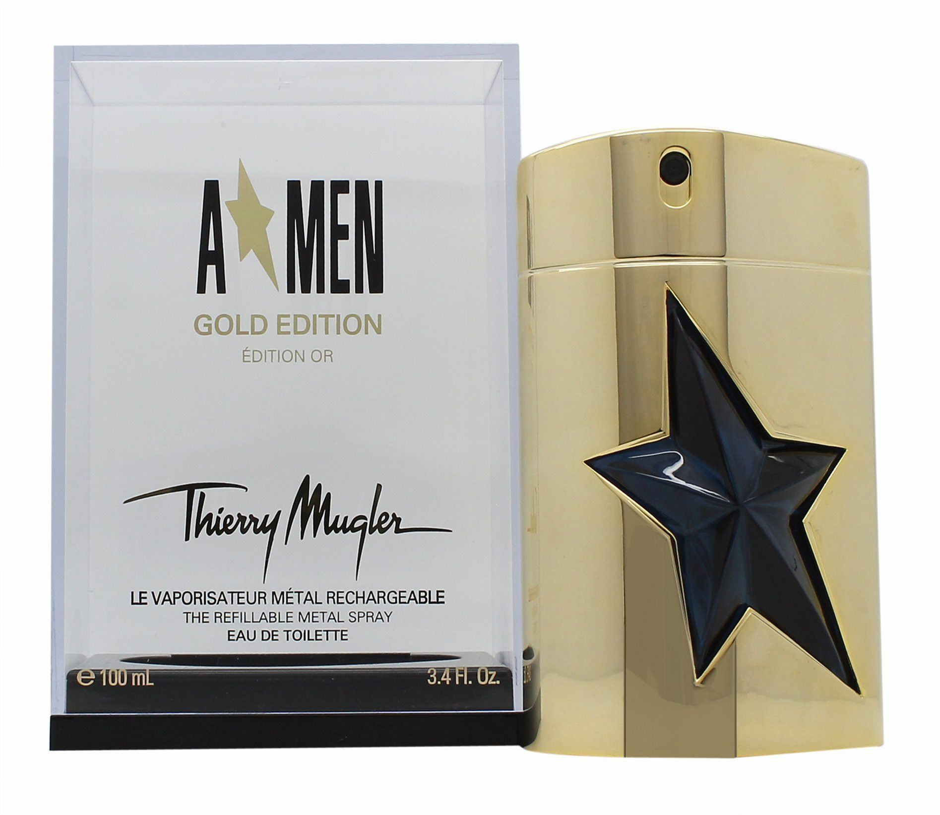 Angel (Limited Edition Gold) By Thierry Mugler Edt Spray Refillable 3.4 Oz