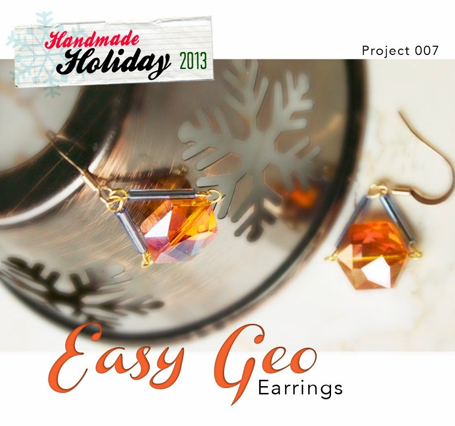 """Quiet Lion Creations by Allison Beth Cooling: Easy Geo Earrings: """"Handmade Holiday"""" Project 007"""
