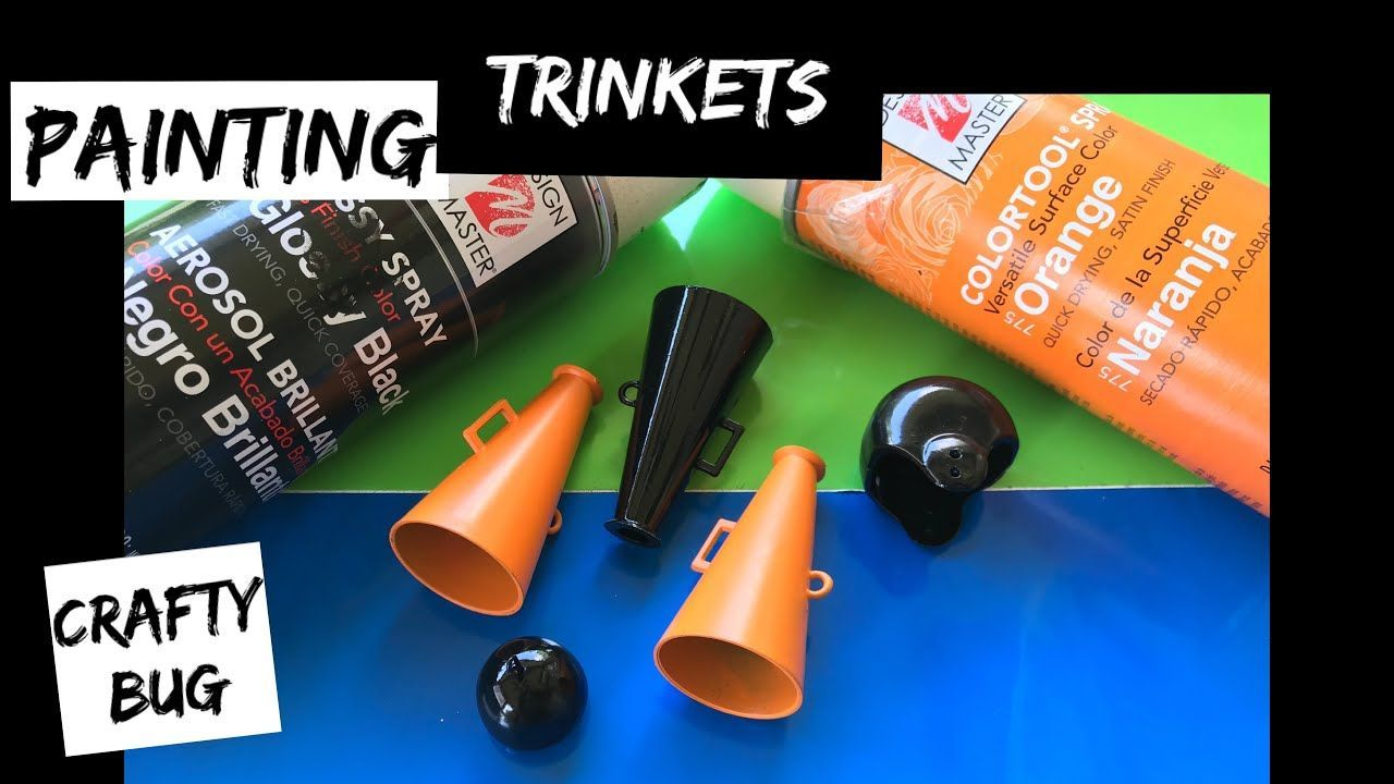 Painting homecoming mum trinkets and cowbells using design master; DIY HOMECOMING MUMS #homecomingmumsdiy Painting homecoming mum trinkets using design master; DIY HOMECOMING MUMS - YouTube