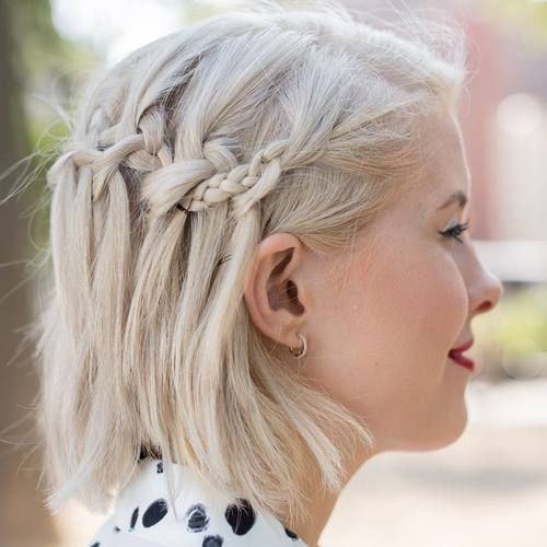 Braid Styles For Short Hair Waterfall Braid Short Hair Stylist Lindsey Reese  Let Me Cut Your