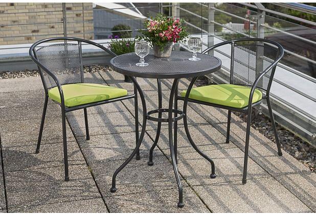 Balkon Set Terrasse Garten Natur Stuhlkissen Tisch Stuhl