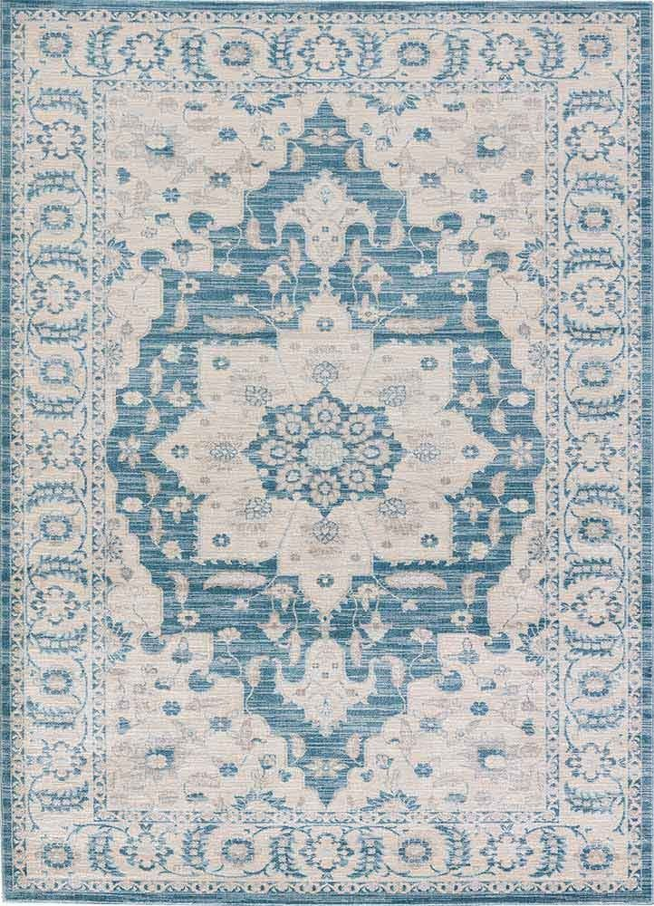 Nysea Rug in Stone Blue & Seagrass design by Jaipur