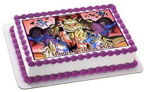 Dragon Ball Z Cake Decorations Dragon Ball Z Edible Birthday Cake Topper Or Cupcake Topper Decor