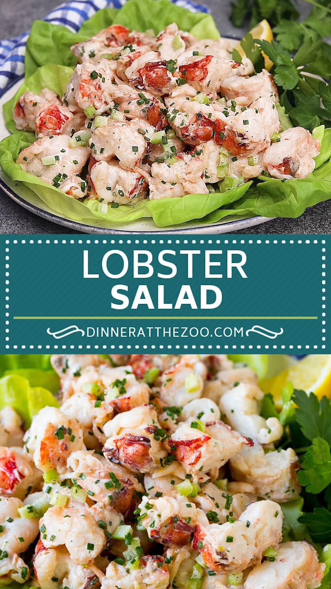 This lobster salad is a combination of fresh lobster meat, vegetables and herbs in a light and creamy dressing.