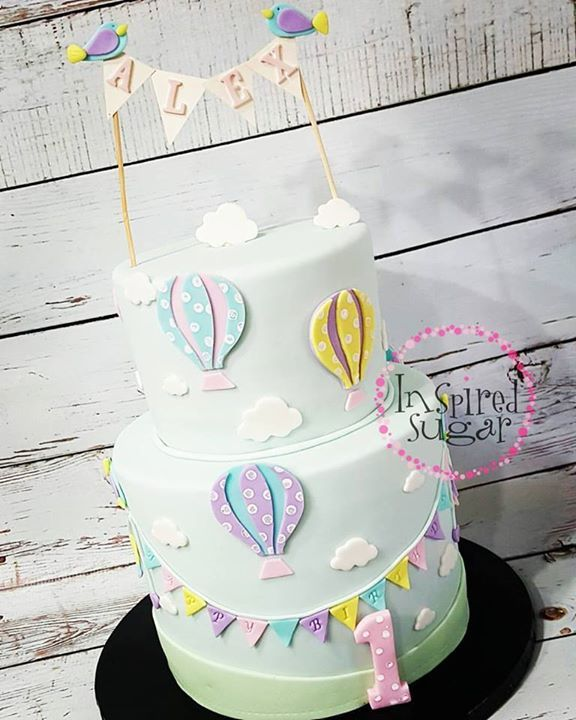Admirable Hot Air Balloon Cake With Images Hot Air Balloon Cake Balloon Funny Birthday Cards Online Necthendildamsfinfo