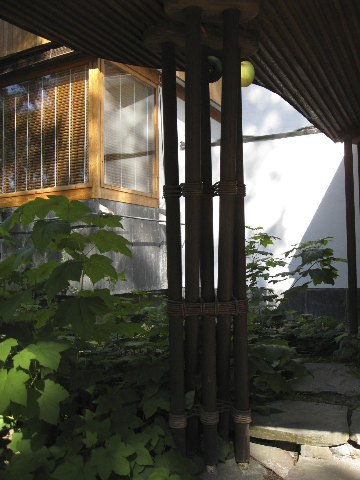 Under the canopy of Alvar Aalto's Villa Mairea, Noormakku, Finland, 1938-39.