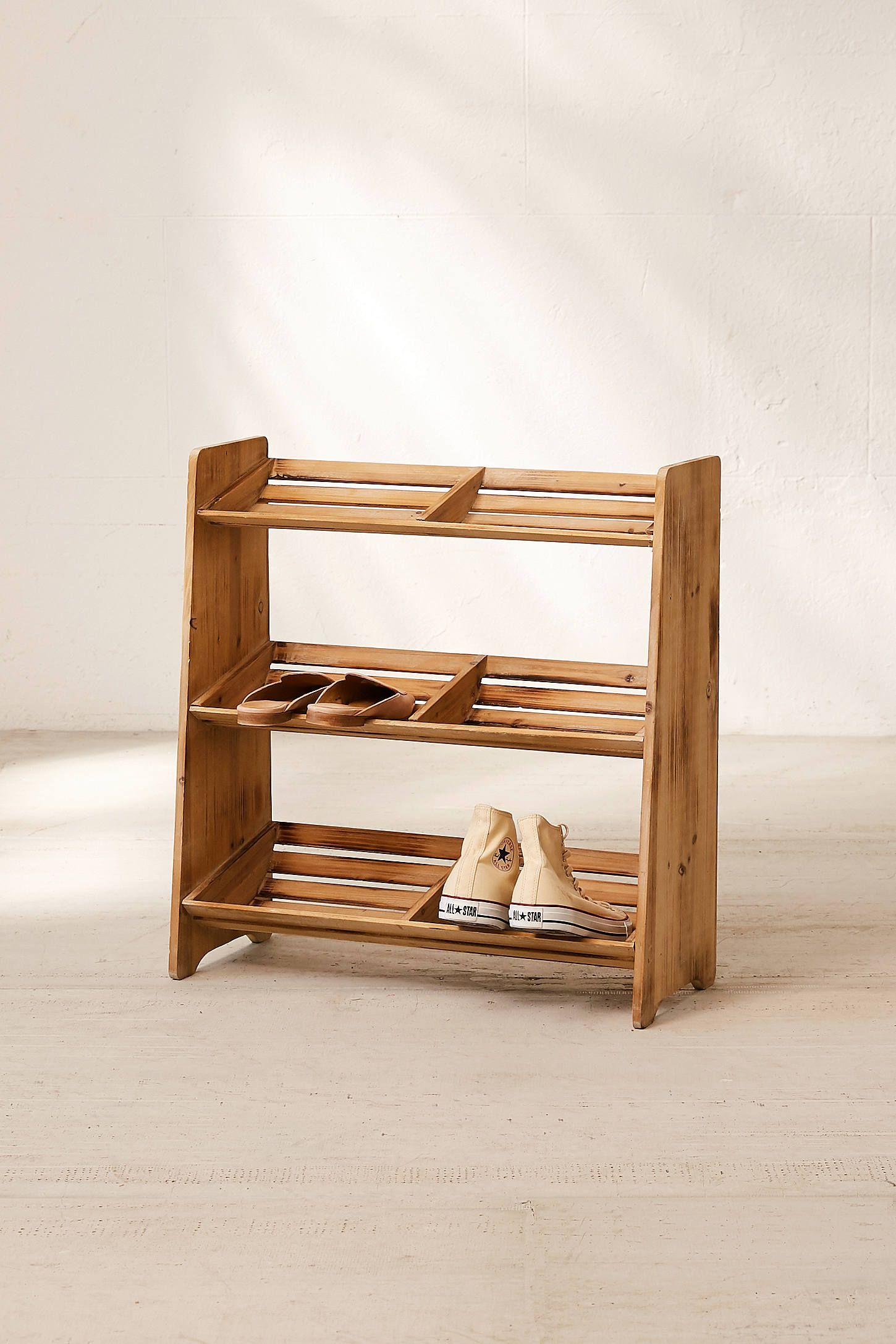Sasha Wooden Shoe Storage Rack In 2020 Wooden Shoe Storage Wooden Shoe Racks Shoe Storage Rack