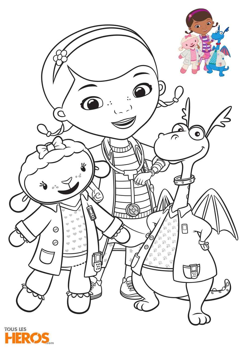 【Plus que 50】 Coloriage Doc La Peluche