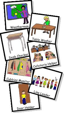 Classroom jobs clipart also teaching preschool misc pinterest rh