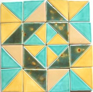 Quilt Tile Designs - Lakota Tile Studio - We can custom create YOUR quilt pattern as a tile art piece. Call: 515--538--0323