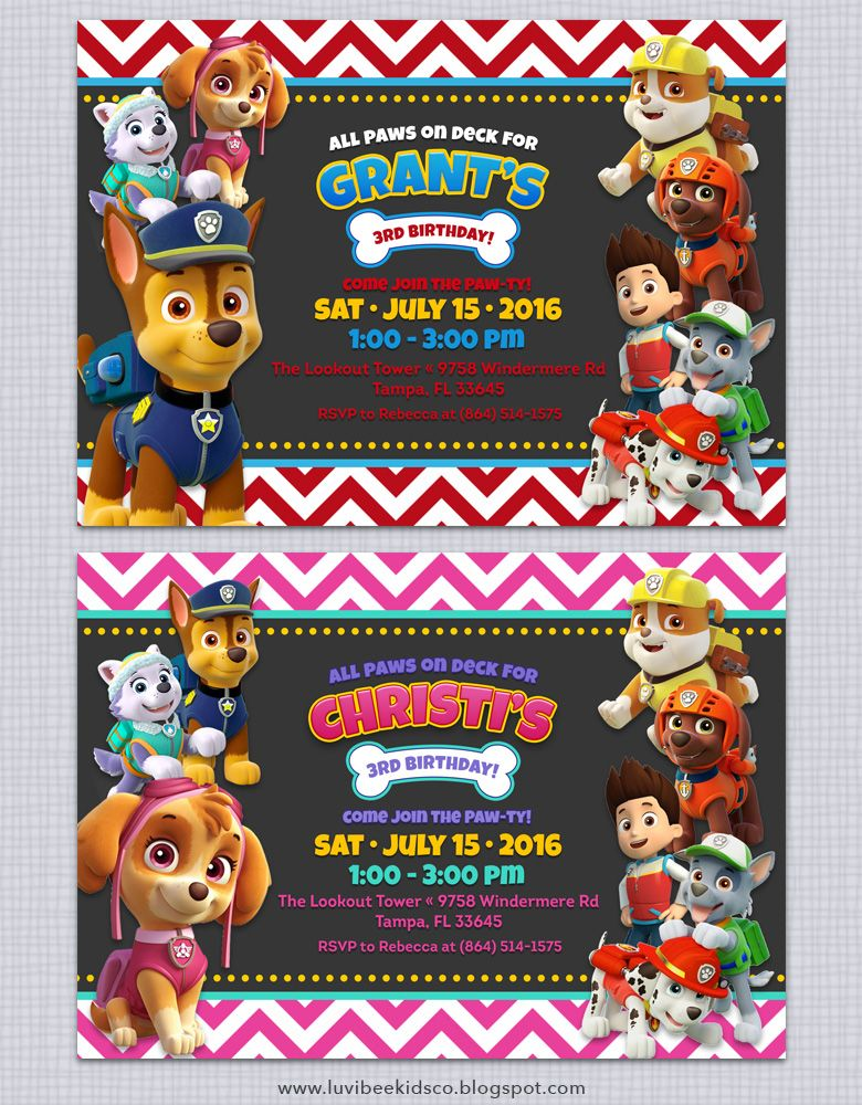 photograph relating to Printable Paw Patrol Invitations named Cost-free Paw Patrol Invitation printable. Totally free paw patrol