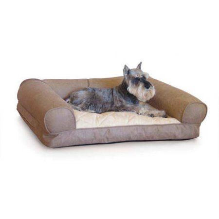K Pet Products Lazy Sofa Sleeper Pet Bed, Small, Tan, 25 inch x 19 inch x 8 inch, Beige