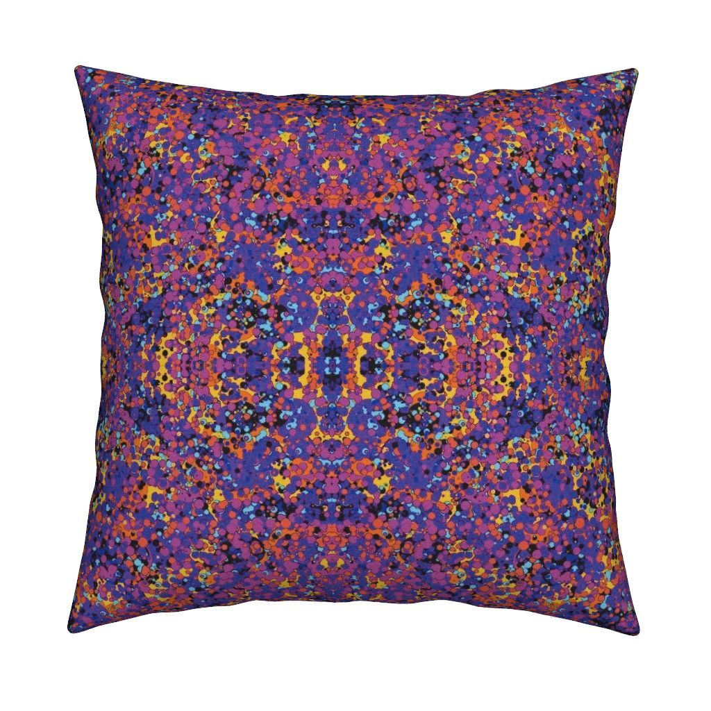Catalan Throw Pillow featuring FIZZ BUBBLES BEAUTIFUL SUNSET GEOMETRIC by…