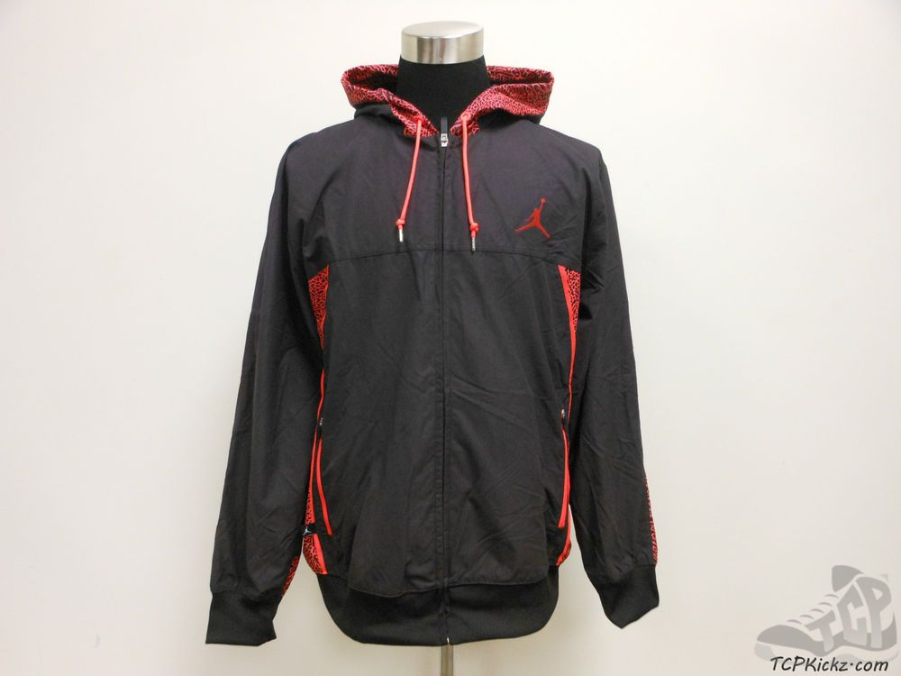 1af17ee4cd28 Mens Nike Air Jordan Full Zip Hoody Jacket Crimson III Infrared 3lab5 sz M  NWT  Jordan  BasicJacket  tcpkickz