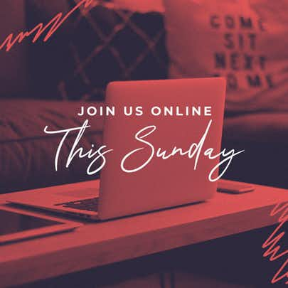 Join Us Online This Sunday Red Scribbles Laptop Cmg Social Cmg Church Motion Graphics Church Media Design Church Graphic Design Church Graphics