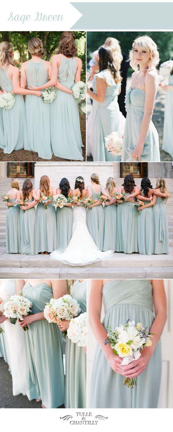 Top ten wedding colors for summer bridesmaid dresses 2016 summer sage green summer wedding color ideas for summer bridesmaid dresses ombrellifo Choice Image