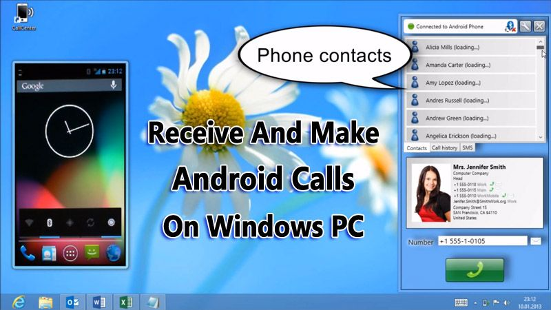 How To Receive And Make Android Call On Windows PC | How ...