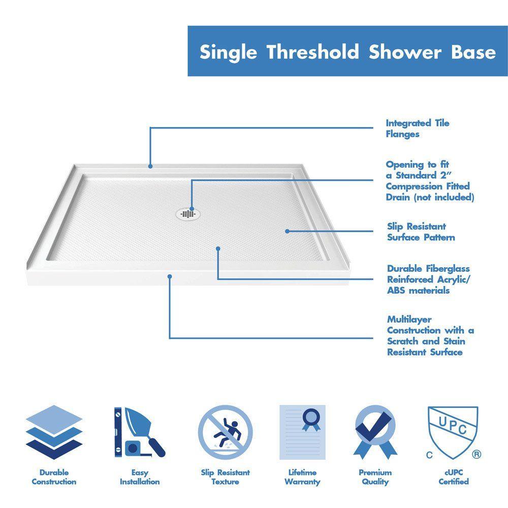Best Shower Base Reviews In 2020 Dreamline Shower Base Shower