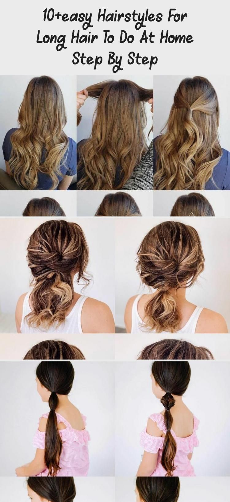 10easy hairstyles for long hair to do at home step