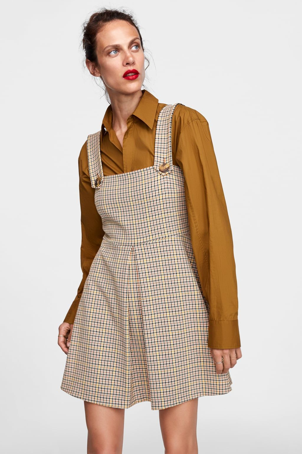 eada00a0 Image 2 of PLAID OVERALL DRESS from Zara | MADELINE in 2019 ...