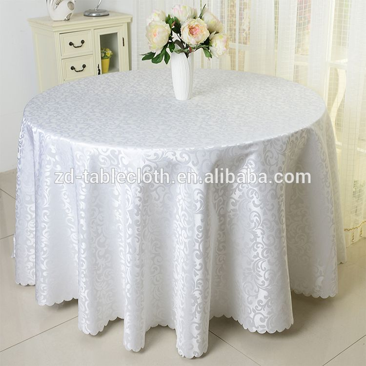 Factory Wholesale Luxury 90 Round Damask Jacquard Table Cloth