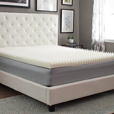 Egg Crate Mattress Topper California King Memory Foam 3 Inches Bed