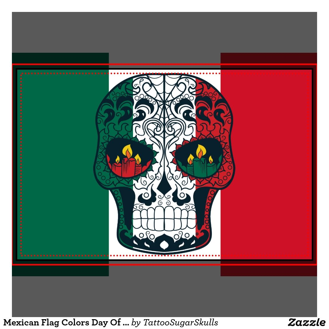 Mexican Flag Colors Day Of The Dead Sugar Skull Zazzle Com In 2020 Mexican Flag Colors Mexican Flags Sugar Skull