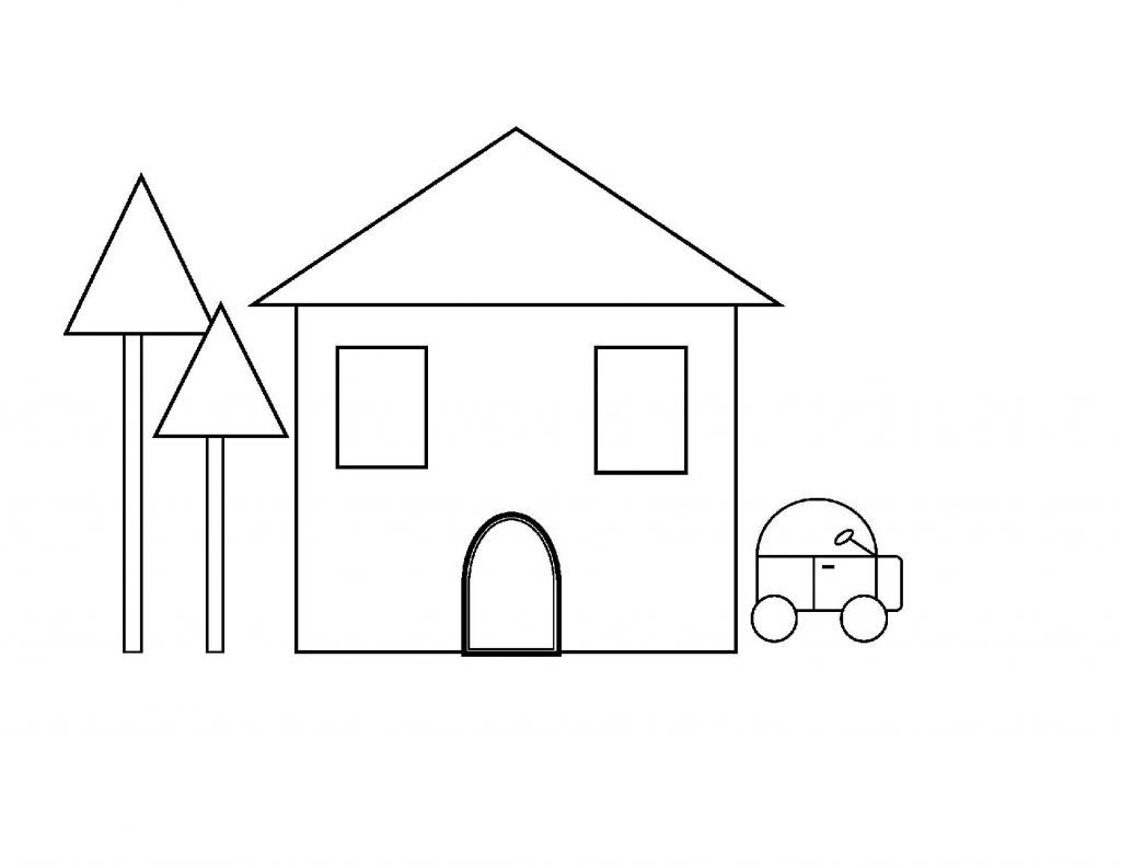 House Shapes Coloring Pages | Educational Coloring Pages | Pinterest ...