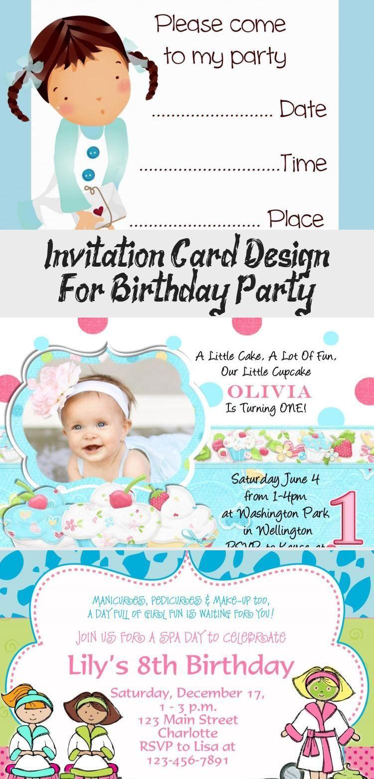 Invitation Card Design For Birthday