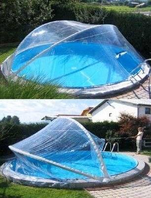 Cabrio Dome für Rundbecken bis 4,50 m (4,60 m) Schwimmbad - schwimmbad im garten
