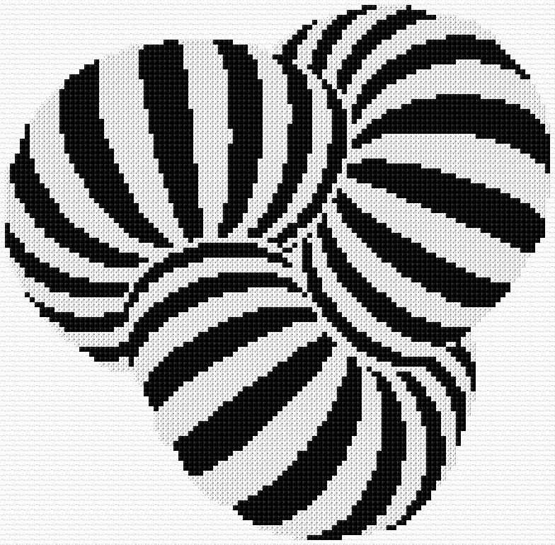 Counted Cross Stitch Pattern Embroidery Chart PDF  Pillow with the illusion II