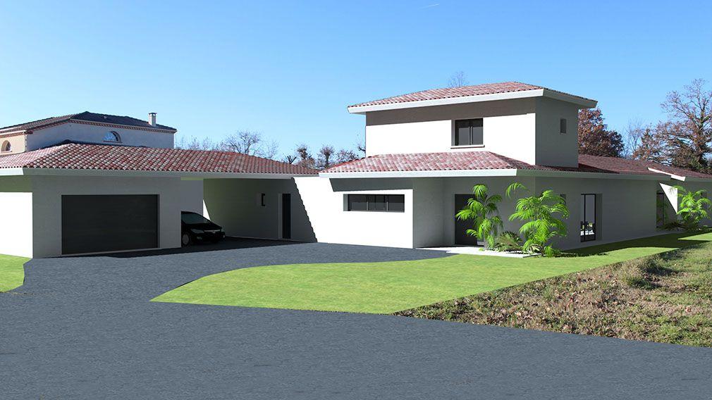 Maison en L   Maison traditionnelle, Plan maison architecte, Maison