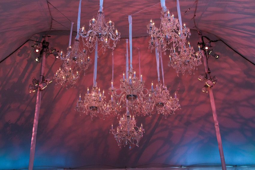 Exquisitely suspended, and lite to perfection. #KehoeDesigns #Lighting #Weddings